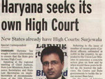 Haryana seeks its own High Court