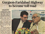 Gurgaon-Faridabad Highway to become toll road